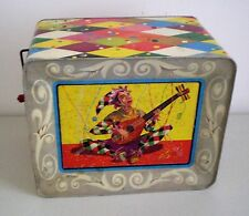 Vintage Mattel Carnival Hurdy Gurdy Man Tin Wind Up Musical Not Working