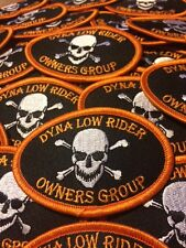 "Harley-Davidson Dyna Low Rider Owners Group 3"" x 2"" Patch!  FREE SHIP WORLDWIDE!"