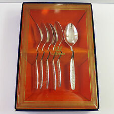 Vintage Wiltshire Silverplate Teaspoons 6 pc Cutlery Set, Floral, Boxed