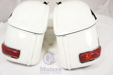 RS Universal Hard Bag Saddlebags For Honda Suzuki Kawasaki Harley Yamaha Victory