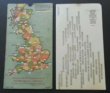 Weston's Biscuits Promotional Road Map with Shortest Road Distances for Towns