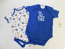 NWT Toddlers Lot of 2 LA Major League Baseball One-Piece Size 18 Months