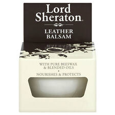 LEATHER BALSAM 75ml LORD SHERATON PURE BEESWAX OIL POLISH PROTECT FURNITURE