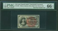 "1869-75  10 CENTS FRACTIONAL CURRENCY FR-1261 CERTIFIED BY PMG ""GEM NEW"" 66-EPQ"