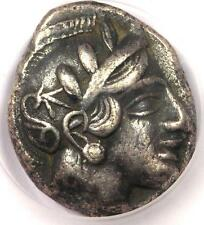 Ancient Athens Greece Athena Owl Tetradrachm Coin (449 - 413 BC) - ICG XF40 EF40