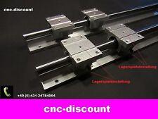 CNC Set 16x 600mm 4x Linearwagen Linearführung Linear Guide Rail  3D Fräse rosa