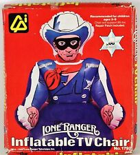 RARE VINTAGE NEW 1980 THE LONE RANGER INFLATABLE TV CHAIR TOY - LEGEND OF FIGURE