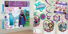 Frozen Scene Setter/Swirls Birthday Princess Anna/Elsa Banner Decor party Supply