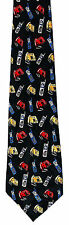 Phones All Over Mens Neck Tie Telephone Black Necktie Cell Mobile Phone Gift New
