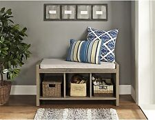 Cushion Bench Oak Entry Way Furniture Decor Living Family Room Bed