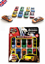 Assorted DIE CAST SPORTS CARS Kids Childs toy Vehicles New in Retail 10 PACK-UK*