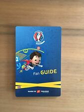 Programme Fan Guide Toulouse Euro 2016 Frankreich France EM Englisch English