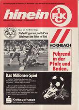 BL 83/84  1. FC Kaiserslautern-Borussia Mönchengladbach