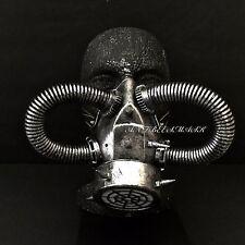 Steampunk Rivet Vintage Burning Man Cosplay Black Silver Respirator Gas Mask
