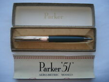 PARKER '51'1/10 12CT ROLLED GOLD CAP&GREY BODIED AERO-METRIC PENCIL IN ORIG BOX