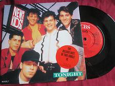 """New Kids On The Block – Tonight  CBS BLOCK 7 PRStickered UK Vinyl 7"""" single 45"""