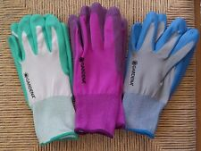 Women's Gardening Gloves NWOT 3 Pairs Nitrile Dipped on Polyester Liner