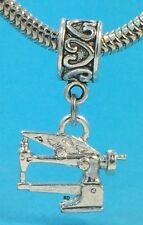 Long Arm Sewing Machine 3D Charm For Bracelet OR Necklace S.S.plated