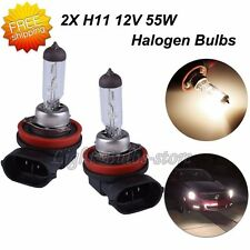 H11 Halogen Headlight DC 12V 3800K 55W Fog/Daytime Running Light Bulb Yellow x2