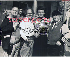 Frankie Avalon signed photo with The Three 3 Stooges on set candid excellent