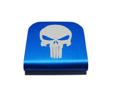 Punisher Hat Clip Blue for Tactical Patch Caps by Morale Tags
