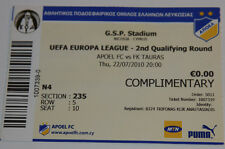 Ticket for collectors EL APOEL Nicosia - Tauras Taurage Cyprus Lithuania