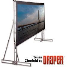 Draper Cinefold 221006 Folding Truss style Screen NEW 7.5x10 HD frame +Front mat