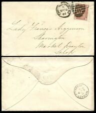 GB QV 1880 PENNY VENETIAN PERFIN C + CO EMBOSSED FLAP ENVELOPE CHARING CROSS