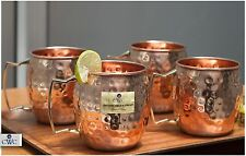 Pure Copper Moscow Mule Mugs Set Of 4 With A Carry Bag By CWC