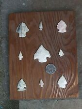 NATIVE AMERICAN INDIAN ARROWHEADS ARROW HEADS ARTIFACTS BIRD POINTS LOT OF 9