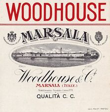 W080-OLD LABEL-ETICHETTA  Woodhouse Marsala Qualità C.C.