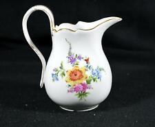 Vintage Porcelain Creamer Pitcher/Milk Jug - Floral Pattern