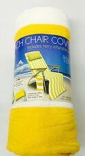 Beach Chair Bahama Yellow White Tote Cover Towel Terry Pillow Pockets Headphone