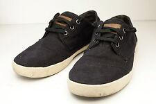 TOMS 9.5 Black Canvas Lace Up Shoe Mens