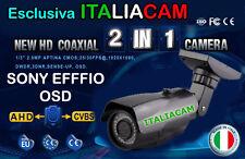 TELECAMERA AHD EFFIO SONY con CONTROLLO  OSD 720P