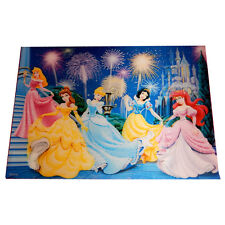 Disney Princesses 3D Holographic Lenticular Dinner Place Mats 4pc Wipe Clean
