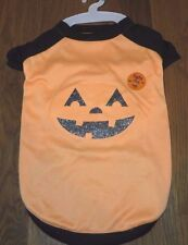New MARTHA STEWART Orange Pumpkin JACK-O-LANTERN Halloween DOG COSTUME Shirt L