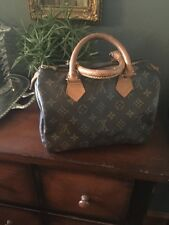 Louis Vuitton Speedy 25 M41528 Monogram Canvas Satchel - 100% Authentic
