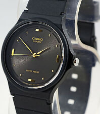 Casio MQ-76-1A Black Gold Elegant Analog Watch Resin Band Classic New