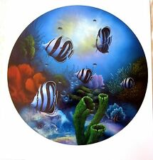 POSEIDON'S PORTHOLE 1997 DAVID MILLER LITHOGRAPH LIMITED EDITION/250 SIGNED