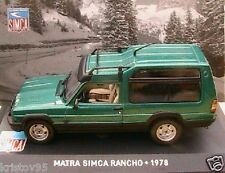TALBOT MATRA SIMCA RANCHO 1978 IXO ALTAYA 1/43 VERTE collection GRUN GREEN VERDE