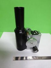 MICROSCOPE PART TUBUS + MICROMETER TECHNICAL INSTRUMENT  AS IS BIN#72-M-07