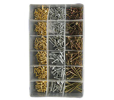 New ASSORTED DIY PACK OF 700 Qty Assorted Chipboard & Wood Screws