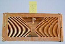 Vtg 60s Atomic Radio Wave Heat Register Damper Floor Wall Stamped Steel Metal #3