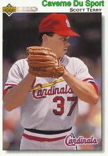 688 SCOTT TERRY ST. LOUIS CARDINALS BASEBALL CARD UPPER DECK 1992