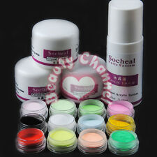 75ml Acrylic Liquid&12pcs Acrylic Powder Set False Nail Art Professional Kit