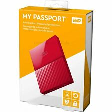 WD 2TB My Passport RED External Portable Hard Drive USB 3.0 NEW HDD PC MAC