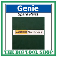 Genie SLA Material Lift No Riders Warning Decal Sticker 33468 Spare Part