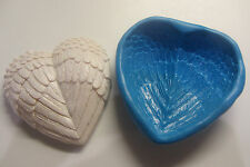 HEART WITH WINGS COOKIE MOULD Cupcakes Chocolate Sugarcraft Cake Topper  Fimo
