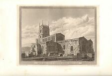 1826 LARGE GEORGIAN PRINT ~ NORTH EAST VIEW OF CHIPPING NORTON CHURCH OXON
